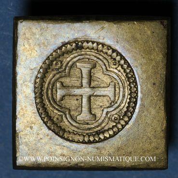 Monnaies Espagne. Poids monétaire de l'octuple pistole de Charles Quint milieu du XVIIIe