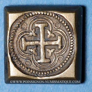 Monnaies Espagne. Poids monétaire du double pistolet ou pistole de Charles Quint au milieu du XVIIIe