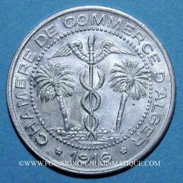 Münzen Alte Französische Kolonien Algérie Chambre De Commerce D