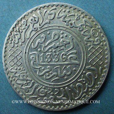 Münzen Alte Französische Kolonien Maroc Moulay Yussef I Moulay