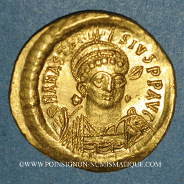 Münzen Empire byzantin. Anastase (491-518). Solidus. Constantinople, 9e officine (507-518)