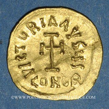 Münzen Empire byzantin; Héraclius (610-641). Trémissis. Constantinople, 6e officine. 610-613