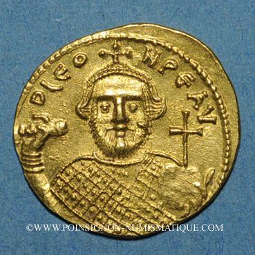 Münzen Empire byzantin. Léonce (695-698). Solidus. Constantinople, 1ère officine. 695-698