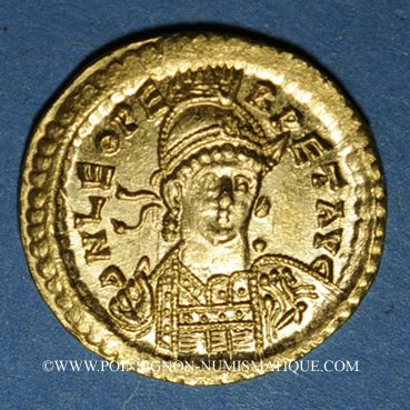 Münzen Empire romain d'orient. Léon I (457-474). Solidus. Constantinople, 2e officine, 457-468