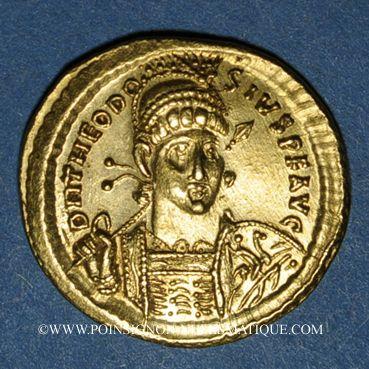 Münzen Théodose II (408-450). Solidus. Constantinople, 8e officine, 430-440