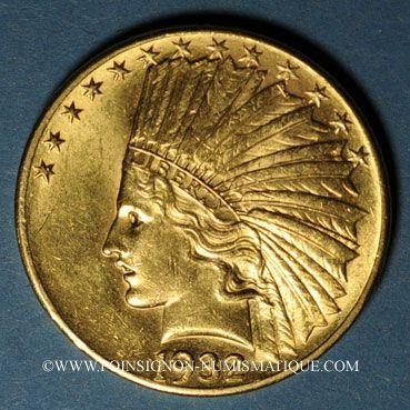 Ausländische Münzen In Gold Etats Unis 10 Dollars 1932 Tête D