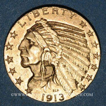 Ausländische Münzen In Gold Etats Unis 5 Dollars 1913 Tête D