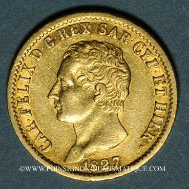 Ausländische Münzen In Gold Italie Sardaigne Charles Félix 1821