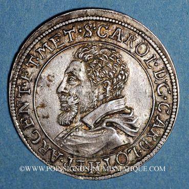 Münzen Alsace. Evêché de Strasbourg. Charles de Lorraine (1592-1607). Teston n. d. Saverne. (S fin de lég.)