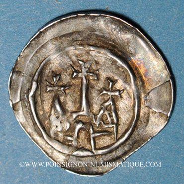 Münzen Alsace. Evêché de Strasbourg. Epoque des Hohenstaufen (1138-1284). Denier vers 1230-1250