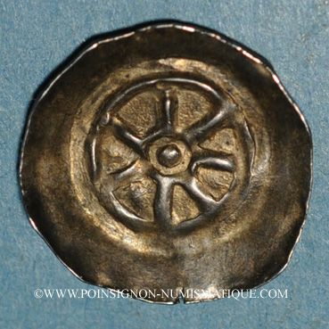 Münzen Basse Alsace. Monnayage indéterminé (13e siècle). Denier à la roue
