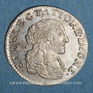 Münzen Monaco. Louis I (1662-1701). 1/12 écu ou 5 sols, luigino 1667. Imitation de Dombes