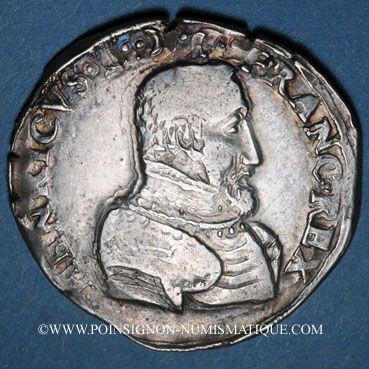Münzen Charles IX (1560-1574). Monnayage au nom de Henri II. Teston, 2e type, 1561T. Nantes