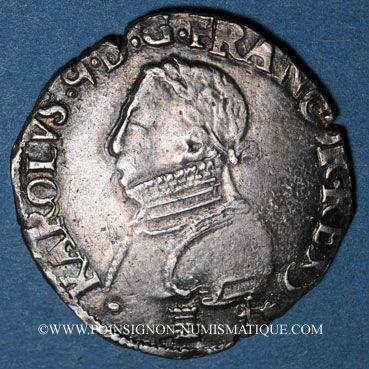 Münzen Charles IX (1560-1574). Monnayage en son nom. Teston, 3e type, 1568L. Bayonne