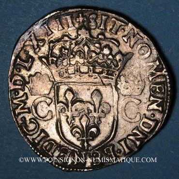 Münzen Charles IX (1560-1574). Teston, 1er type. 1563. Rennes