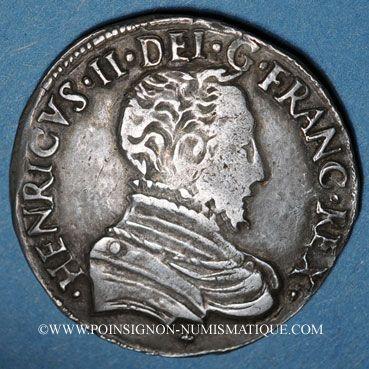 Münzen Charles IX (1560-74). Monnayage au nom de Henri II. Teston du Dauphiné 1561Z Grenoble (Z non pointé)