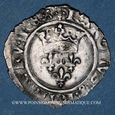 Münzen Charles VI (1380-1422). Monnayage du duc de Bourgogne (1417-1423). Florette. Chalon