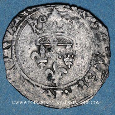 Münzen Charles VI (1380-1422). Monnayage du duc de Bourgogne (1417-1423). Florette. Dijon