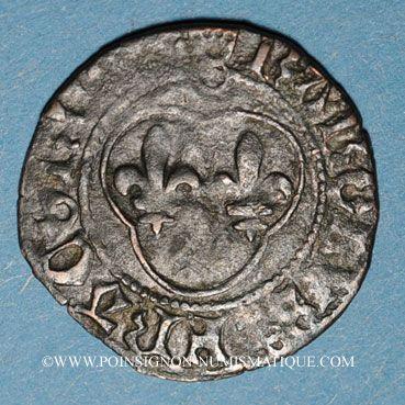 Münzen Charles VIII (1483-1498). Denier tournois. Couronnelles initiales placées /annelet. Type inédit !