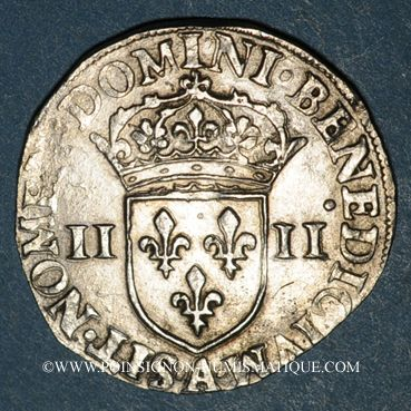 Münzen Charles X, roi de la Ligue (1589-1590). 1/4 d'écu 1591A et point 18e. Paris