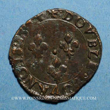 Münzen Charles X, roi de la Ligue (1589-1590). Double tournois 1594P. Dijon