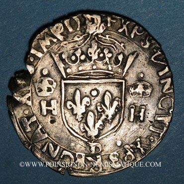 Münzen Henri II (1547-1559). Teston, 2e type, Lyon. Faux d'époque !