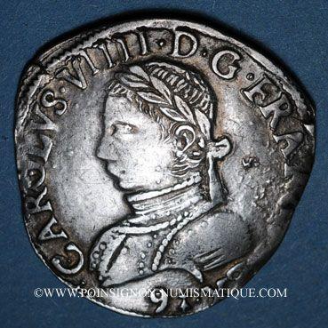 Münzen Henri III (1574-1589). Monnayage au nom de Charles IX. Teston, 1er type, 1575. Rennes