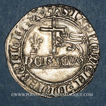 Münzen Henri VI d'Angleterre (1422-1453). Blanc aux écus. Saint-Lô