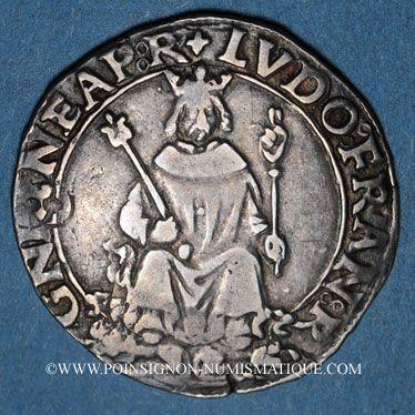 Münzen Louis XII (1498-1514). Monnaies frappées en Italie. Carlin d'argent Naples (1501-1504)