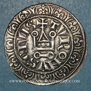 Münzen Philippe IV le Bel (1285-1314). Gros tournois à l'O rond