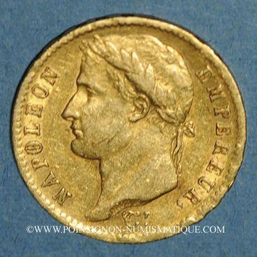 Münzen 1er empire (1804-1814). 20 francs tête laurée EMPIRE 1813A. (PTL 900‰. 6,45 g)