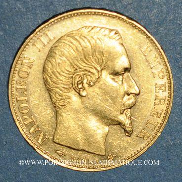 Münzen 2e empire (1852-1870). 20 francs Napoléon III tête nue 1857A. (PTL900 /1000. 6,45 g)