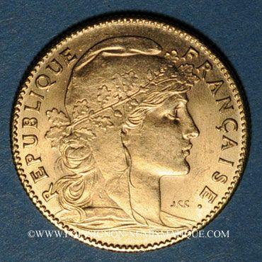 Französische Moderne Gold Münzen 3e République 1870 1940 10