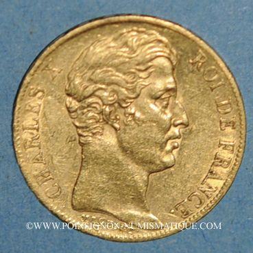 Münzen Charles X (1824-1830). 20 francs 1825A. (PTL 900‰. 6,45 g)