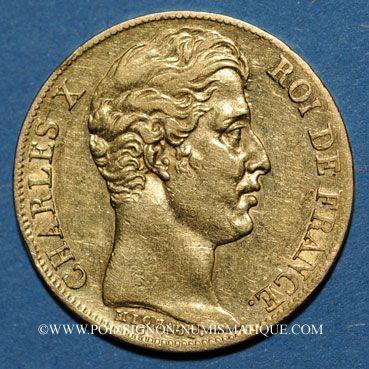 Französische Moderne Gold Münzen Charles X 1824 1830 20 Francs