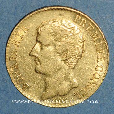 Münzen Consulat (1799-1804). 20 francs an 12A. (PTL 900 /1000. 6,45 g)