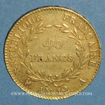 Münzen Consulat (1799-1804). 40 francs an 12A. (PTL 900 /1000. 12,90 g)