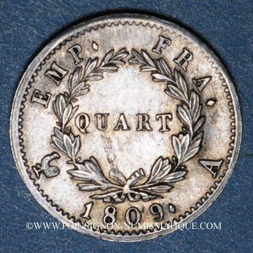 Münzen 1er empire (1804-1814). 1/4 franc EMPIRE 1808A