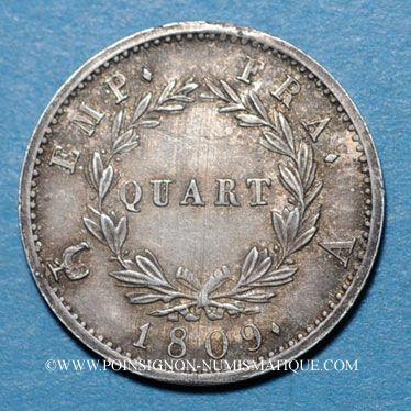 Münzen 1er empire (1804-1814). 1/4 franc EMPIRE 1809A