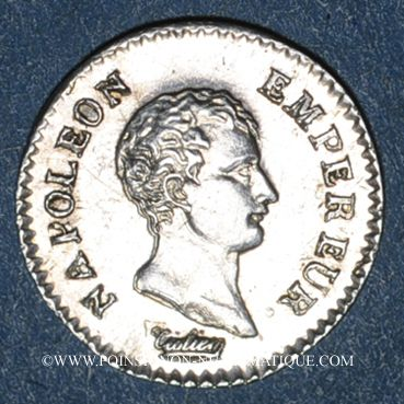 Münzen 1er empire (1804-1814). 1/4 franc, tête nue, an 13A