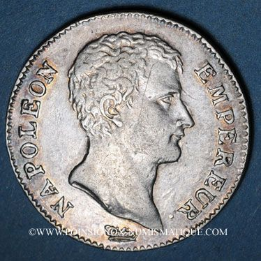 Münzen 1er empire (1804-1814). 1 franc tête nue an 13A