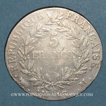 Münzen 1er empire (1804-1814). 5 francs tête nue an 13M. Toulouse