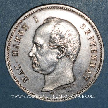 Münzen 3e république (1870-1940). Mac Mahon (1873-1879). 5 francs 1874. Essai