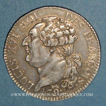 Münzen Constitution (1791-1792). 1/2 écu de 3 livres, type FRANCOIS 1792A. 2e semestre
