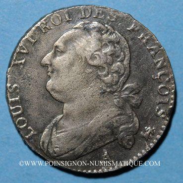 Münzen Constitution (1791-1792). 12 deniers 1792A, an 4. Type FRANCOIS. Léopard à droite et lyre