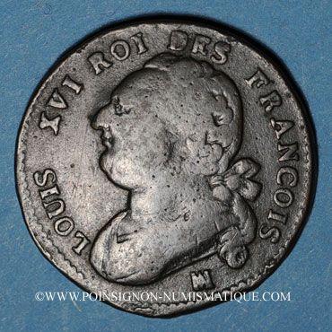 Münzen Constitution (1791-1792). 12 deniers 1792MA. Marseille. Cuivre