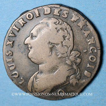 Münzen Constitution (1791-1792). 12 deniers 1792Q. Perpignan, 1er semestre, type FRANCOIS, MdC