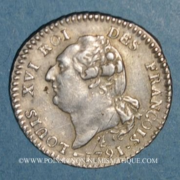 Münzen Constitution (1791-1792). 15 sols 1791I. Limoges. 1er sem. Var. C de FRANCOIS sans cédille
