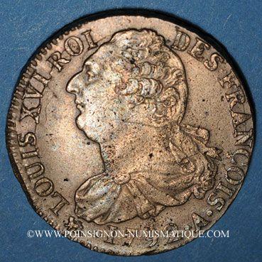 Münzen Constitution (1791-1792). 2 sols 1792A, type FRANCOIS. Métal de cloche