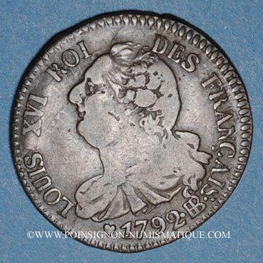 Münzen Constitution (1791-1792). 6 deniers 1792BB. Strasbourg. Type FRANCAIS